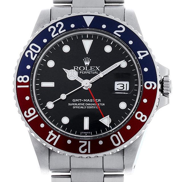 【48回払いまで無金利】ロレックス GMTマスター 赤青ベゼル 91番 16750 フチ有り メンズ(0JD7ROAU0001)【中古】【腕時計】【送料無料】