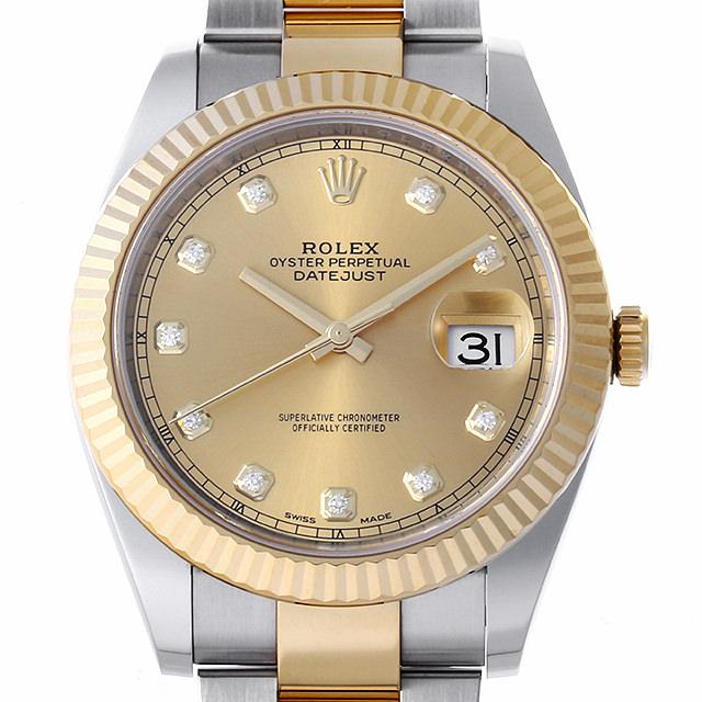 【48回払いまで無金利】ロレックス デイトジャスト 10Pダイヤ ランダムシリアル 126333G シャンパン メンズ(0JYIROAU0001)【中古】【腕時計】【送料無料】