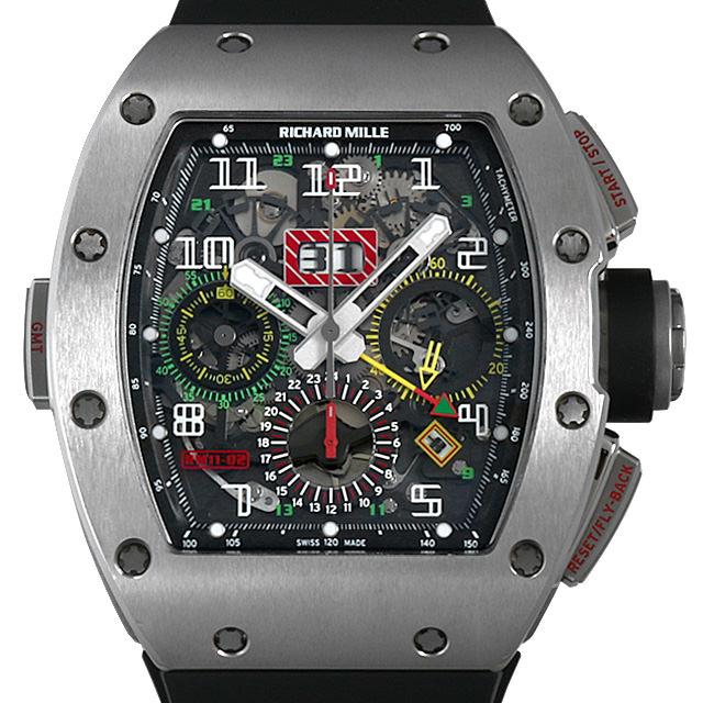 【48回払いまで無金利】SALE リシャールミル オートマチック フライバッククロノグラフ デュアルタイム RM11-02 TI メンズ(0K69RMAU0001)【中古】【腕時計】【送料無料】