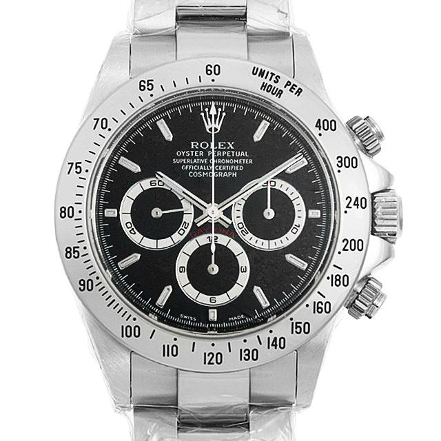 ロレックス コスモグラフ デイトナ A番 16520 ブラック メンズ(0ABQROAS0004)【中古】【未使用】【腕時計】【送料無料】