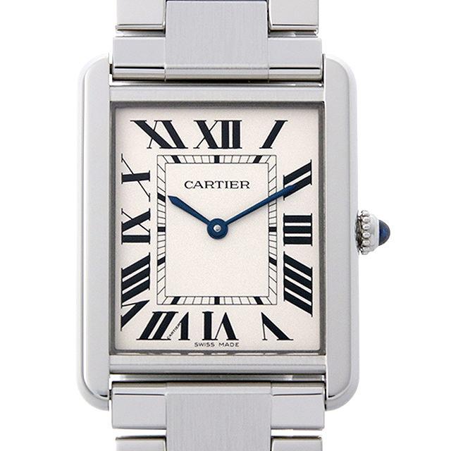 【48回払いまで無金利】カルティエ タンクソロ LM W5200014 メンズ(001HCAAU0117)【中古】【腕時計】【送料無料】