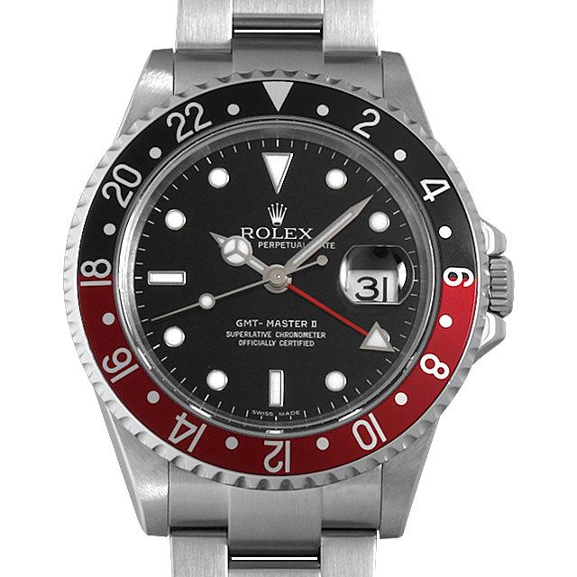【48回払いまで無金利】ロレックス GMTマスターII 赤黒ベゼル D番 16710 レクタングルダイアル メンズ(0IF6ROAU0001)【中古】【腕時計】【送料無料】