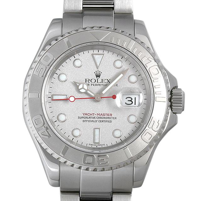 【48回払いまで無金利】SALE ロレックス ヨットマスター ロレジウム 16622 シルバー A番 メンズ(0014ROAU0163)【中古】【腕時計】【送料無料】