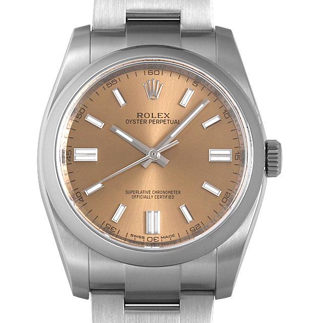 ロレックス オイスターパーペチュアル ランダムシリアル 116000 ホワイトグレープ メンズ(006XROAU0980)【中古】【腕時計】【送料無料】