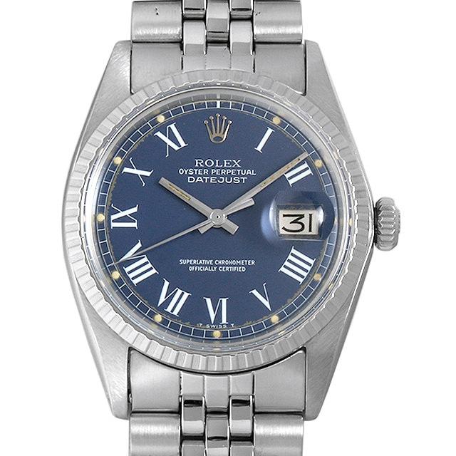 【48回払いまで無金利】ロレックス デイトジャスト 22番 1603 ブルー/ローマ メンズ(007UROAA0102)【アンティーク】【腕時計】【送料無料】