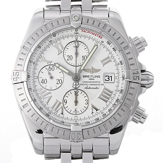 ブライトリング クロノマット エボリューション A156A53PA(A13356) メンズ(008WBRAU0049)【中古】【腕時計】【送料無料】