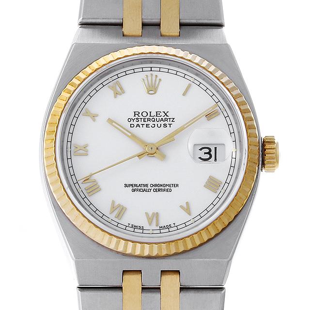 【48回払いまで無金利】ロレックス オイスター クォーツ N番 17013 ホワイト/ローマ メンズ(008WROAU0259)【中古】【腕時計】【送料無料】