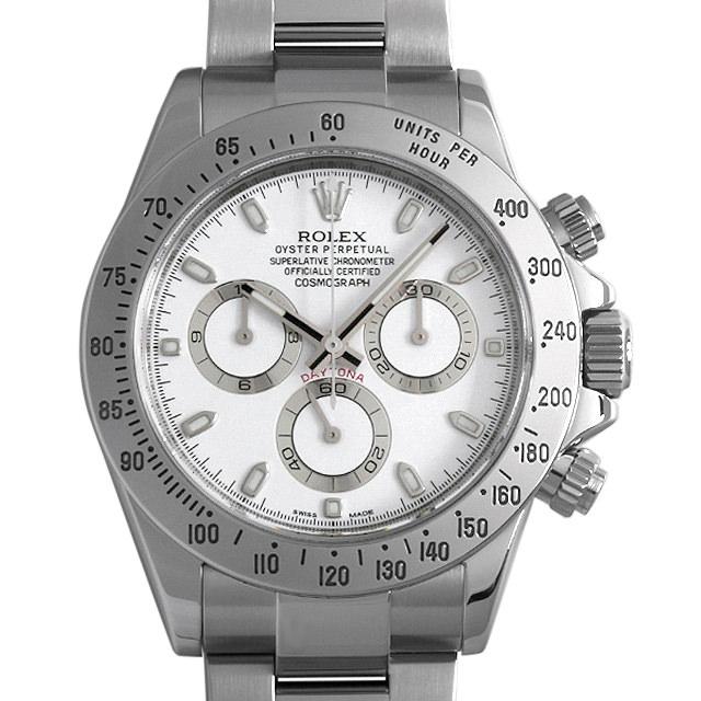 ロレックス コスモグラフ デイトナ ランダムシリアル 116520 ホワイト メンズ(0F32ROAU0002)【中古】【腕時計】【送料無料】