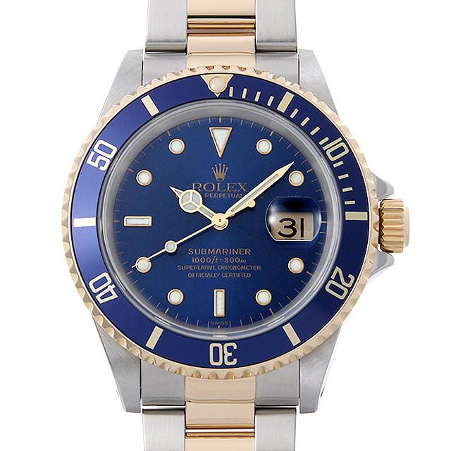 【48回払いまで無金利】ロレックス サブマリーナ デイト A番 16613 ブルー メンズ(0KG3ROAU0001)【中古】【腕時計】【送料無料】