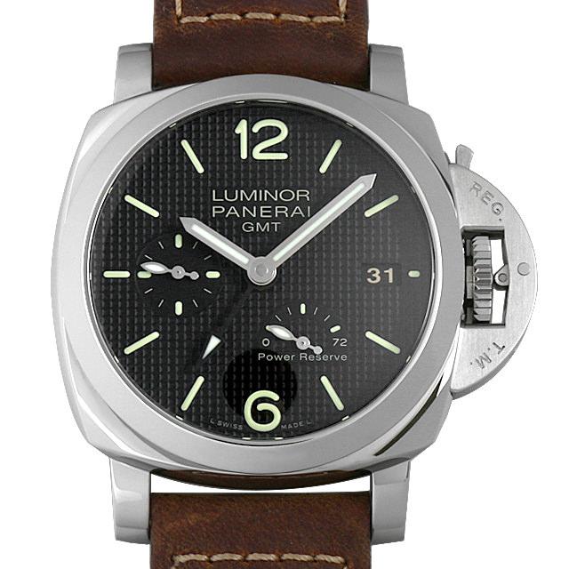 パネライ ルミノール1950 3DAYS GMT パワーリザーブ オートマチック アッチャイオ R番 PAM00537 メンズ(0KRAOPAU0001)【中古】【腕時計】【送料無料】