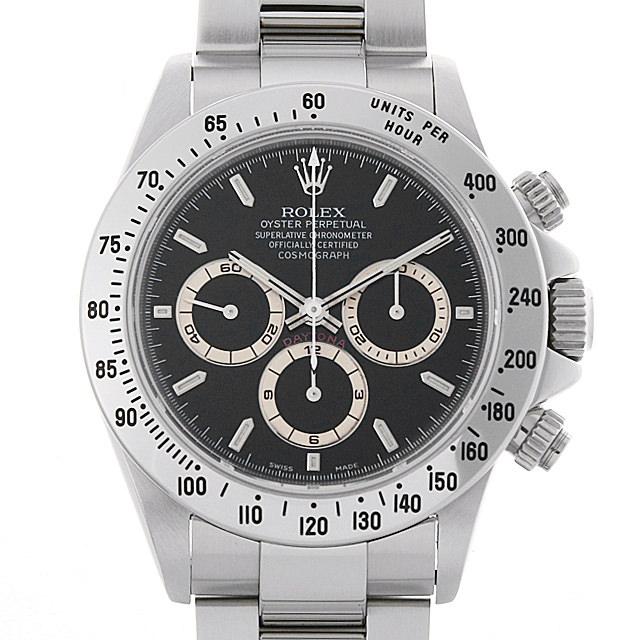 ロレックス コスモグラフ デイトナ 16520 ブラック T番 メンズ(006XROAU1024)【中古】【腕時計】【送料無料】