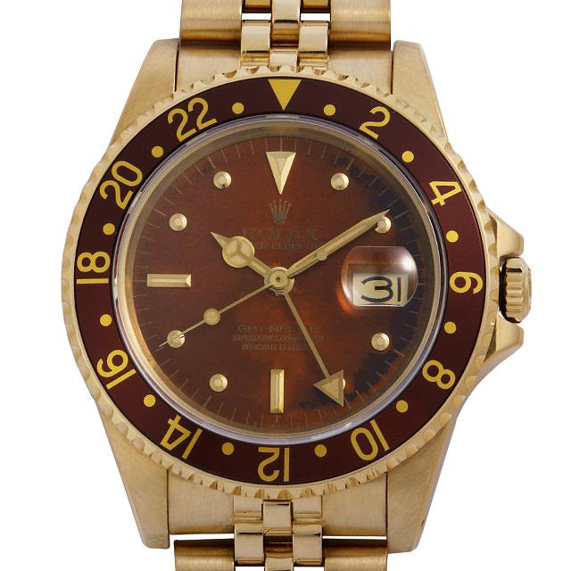 【48回払いまで無金利】ロレックス GMTマスター 16758 フジツボ/トロピカル 65番 メンズ(007UROAU0468)【中古】【腕時計】【送料無料】