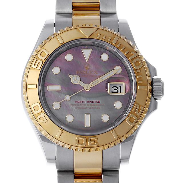 ロレックス ヨットマスター 16623NC ブラックシェル ランダムシリアル メンズ(007UROAU0521)【中古】【腕時計】【送料無料】