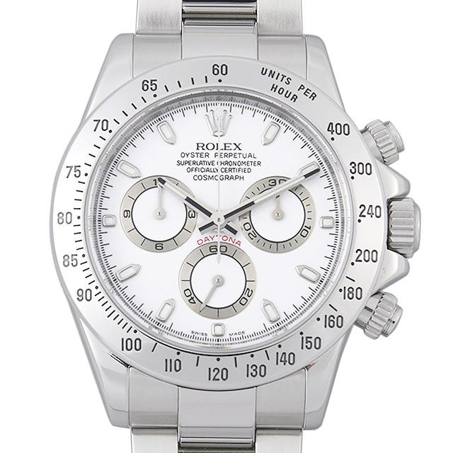 【48回払いまで無金利】ロレックス コスモグラフ デイトナ 116520 ホワイト Z番 メンズ(008WROAU0263)【中古】【腕時計】【送料無料】