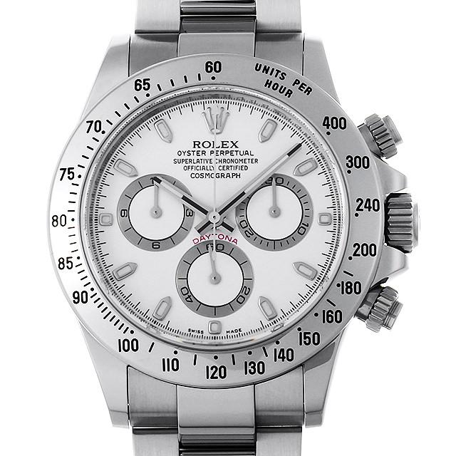 ロレックス コスモグラフ デイトナ 116520 ホワイト V番 メンズ(009VROAU0255)【中古】【腕時計】【送料無料】