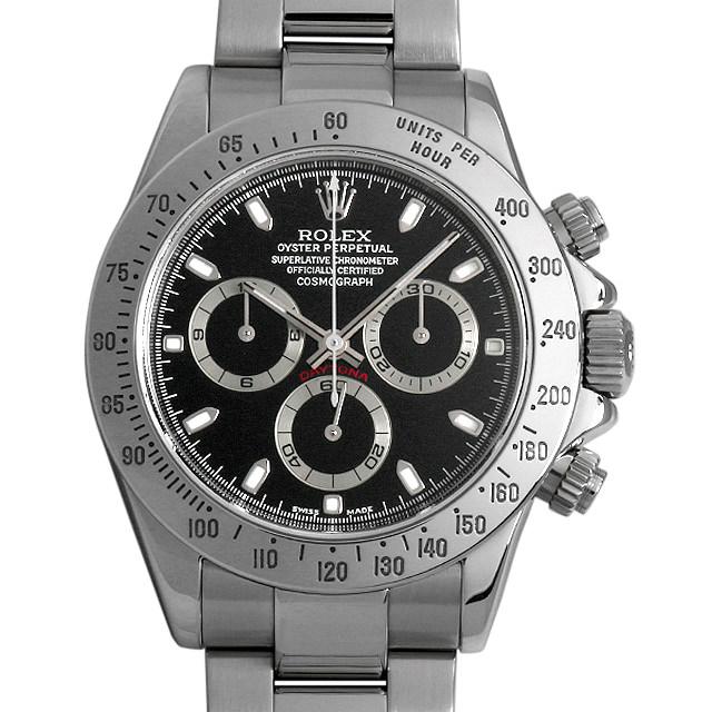 ロレックス コスモグラフ デイトナ 116520 ブラック Y番 メンズ(0GVOROAU0001)【中古】【腕時計】【送料無料】