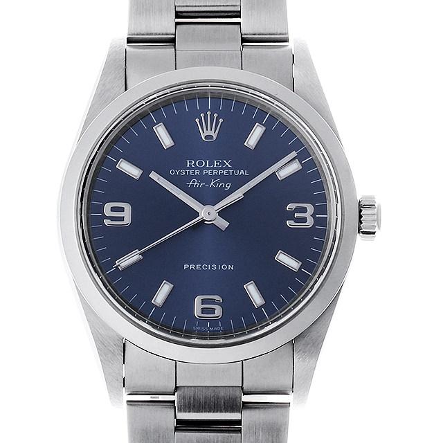 ロレックス エアキング 14000 ブルー/369ホワイトバー A番 メンズ(0KP5ROAU0001)【中古】【腕時計】【送料無料】