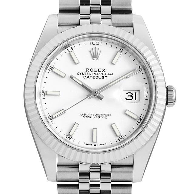 ロレックス デイトジャスト41 オイスターブレス 126334 ホワイト メンズ(009FROAN0177)【新品】【腕時計】【送料無料】