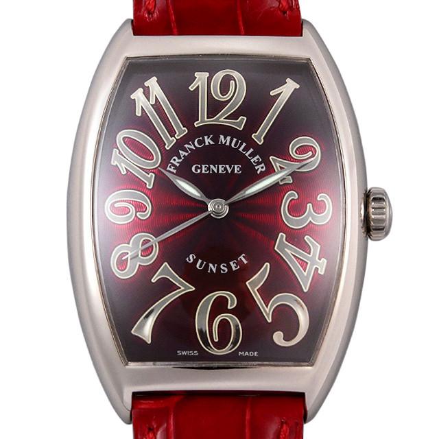 フランクミュラー トノーカーベックス サンセット 6850SC SUNSET WG メンズ(006XFRAU0149)【中古】【腕時計】【送料無料】