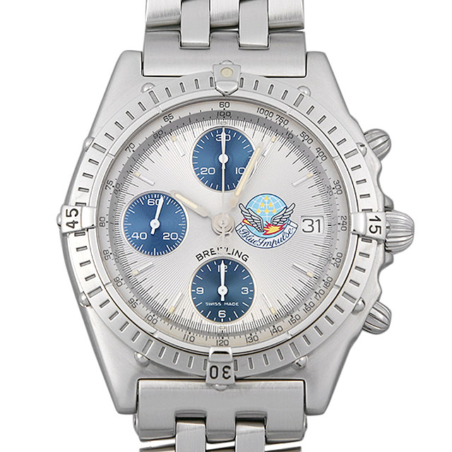 ブライトリング クロノマット ブルーインパルス A134G33PA(A13048) メンズ(008WBRAU0050)【中古】【腕時計】【送料無料】