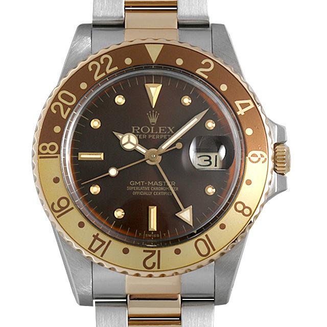SALE ロレックス GMTマスター 16753 ブラウン/フジツボ 90番 メンズ(06V4ROAU0002)【中古】【腕時計】【送料無料】
