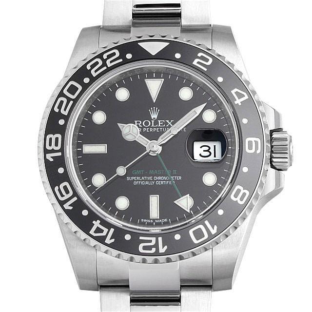 【48回払いまで無金利】ロレックス GMTマスターII 116710LN ランダムシリアル メンズ(0MPUROAS0001)【中古】【未使用】【腕時計】【送料無料】