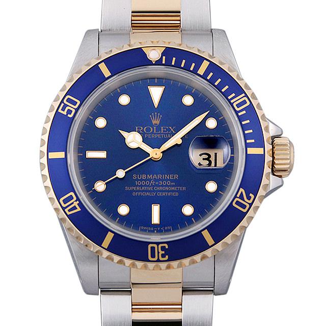 ロレックス サブマリーナ デイト 16613 ブルー T番 メンズ(0050ROAU0079)【中古】【腕時計】【送料無料】