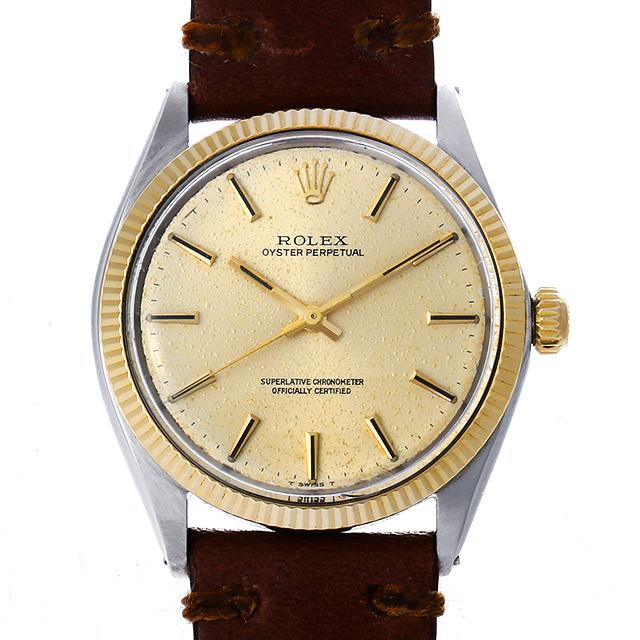 【48回払いまで無金利】ロレックス オイスターパーペチュアル 1005 シルバー21番 メンズ(006XROAA0128)【アンティーク】【腕時計】【送料無料】