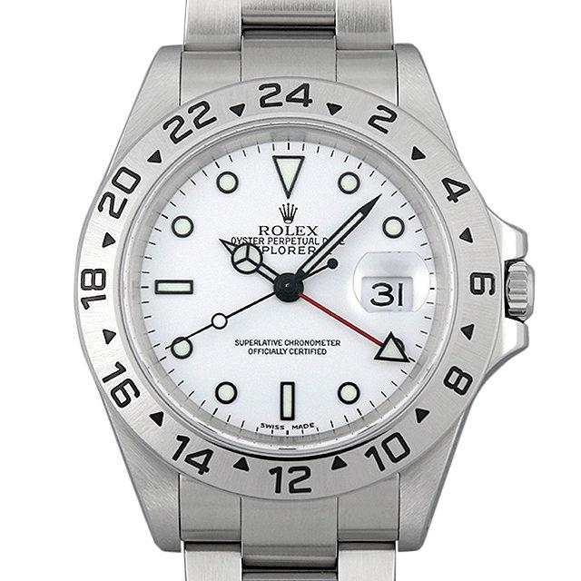 【48回払いまで無金利】ロレックス エクスプローラーII 16570 ホワイト Y番 メンズ(006XROAU1018)【中古】【腕時計】【送料無料】