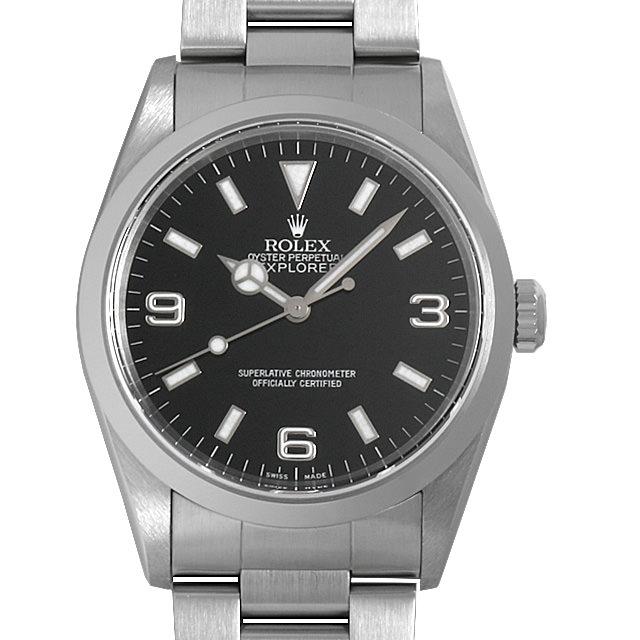 【48回払いまで無金利】ロレックス エクスプローラーI 14270 X番 メンズ(006XROAU0951)【中古】【腕時計】【送料無料】