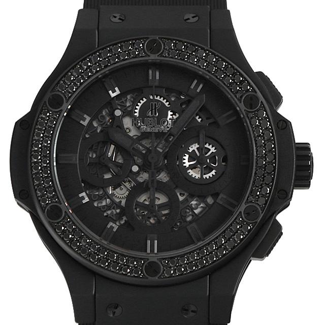 ウブロ ビッグバン アエロバン オールブラック ブラックダイヤ 311.CI.1110.RX.1100 メンズ(008KHBAU0006)【中古】【腕時計】【送料無料】