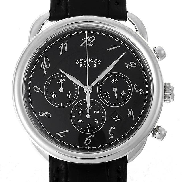 【48回払いまで無金利】SALE エルメス アルソー クロノグラフ AR4.910a(036434WW00) メンズ(009MHEAU0007)【中古】【腕時計】【送料無料】