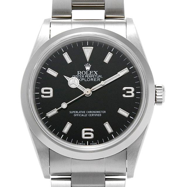 【48回払いまで無金利】ロレックス エクスプローラーI 14270 A番 メンズ(076QROAU0001)【中古】【腕時計】【送料無料】