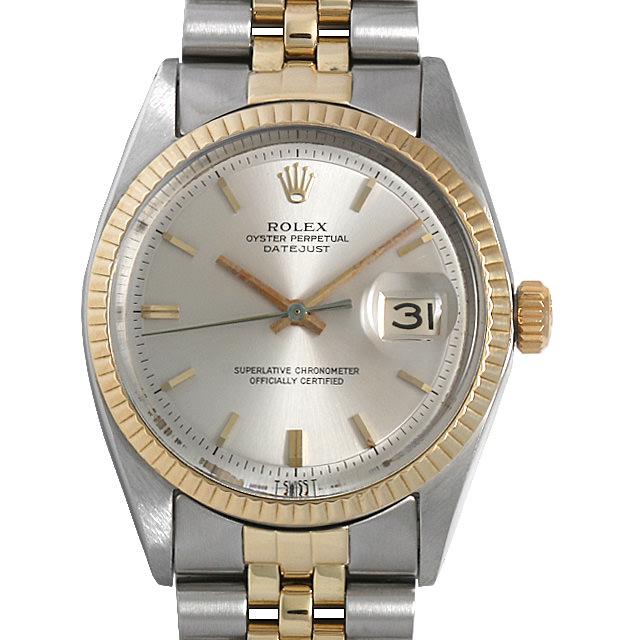 ロレックス デイトジャスト 1601 シルバー/バー Cal.1570 17番 メンズ(0BCCROAA0020)【アンティーク】【腕時計】【送料無料】