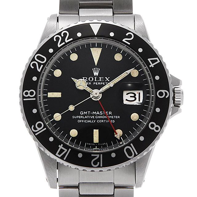 【48回払いまで無金利】ロレックス GMTマスター 黒ベゼル 1675 ロングE/小針 16番 メンズ(0EIXROAA0001)【アンティーク】【腕時計】【送料無料】