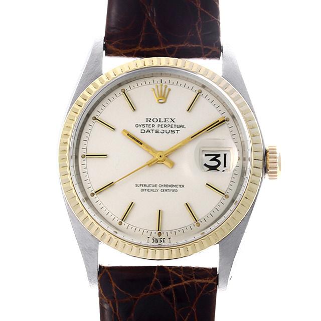 【48回払いまで無金利】ロレックス デイトジャスト 1601 ホワイト/バー 27番 メンズ(0KRQROAA0001)【アンティーク】【腕時計】【送料無料】
