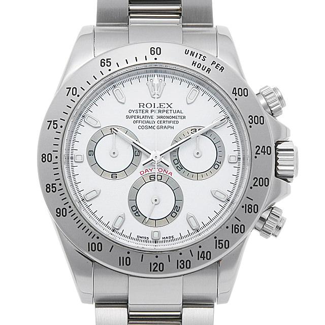 【48回払いまで無金利】ロレックス コスモグラフ デイトナ 116520 ホワイト F番 メンズ(0L0IROAU0002)【中古】【腕時計】【送料無料】
