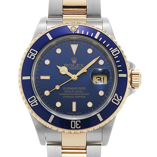ロレックス サブマリーナ デイト 16613 ブルー P番 メンズ(0L8TROAU0001)【中古】【腕時計】【送料無料】