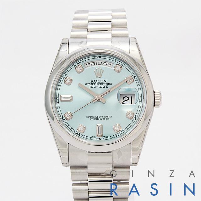 【48回払いまで無金利】ロレックス デイデイト 118206A メンズ(N-118206AICE)【新品】【腕時計】【送料無料】