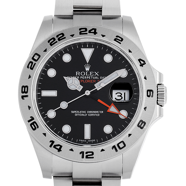 【48回払いまで無金利】ロレックス エクスプローラーII 216570 ブラック メンズ(0CCTROAN0101)【新品】【腕時計】【送料無料】