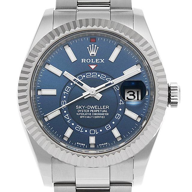 【48回払いまで無金利】SALE ロレックス スカイドゥエラー 326934 ブルー メンズ(0014ROAU0169)【中古】【腕時計】【送料無料】