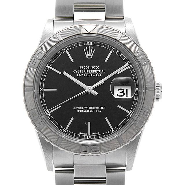 ロレックス デイトジャスト サンダーバード 16264 ブラック F番 メンズ(001HROAU0243)【中古】【腕時計】【送料無料】