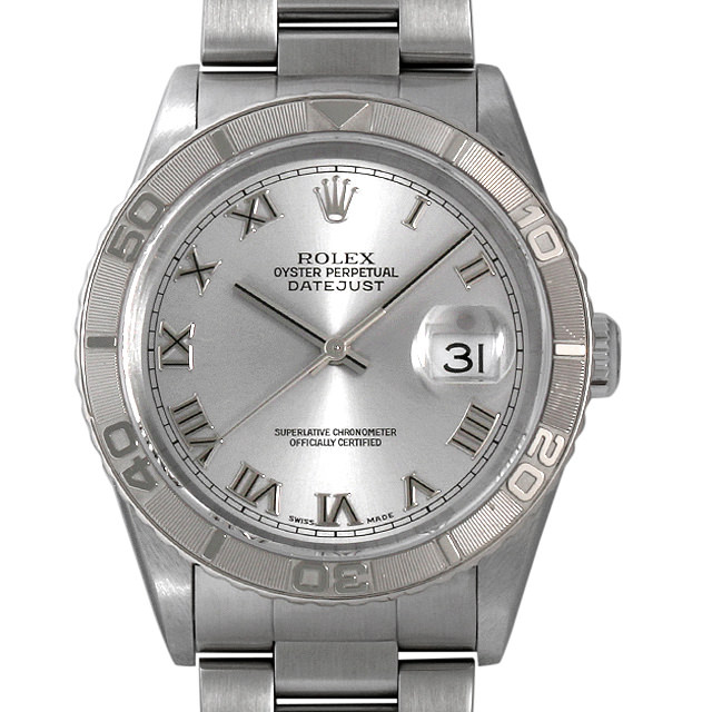 【48回払いまで無金利】ロレックス デイトジャスト サンダーバード 16264 グレー/ローマ Y番 メンズ(001HROAU0259)【中古】【腕時計】【送料無料】