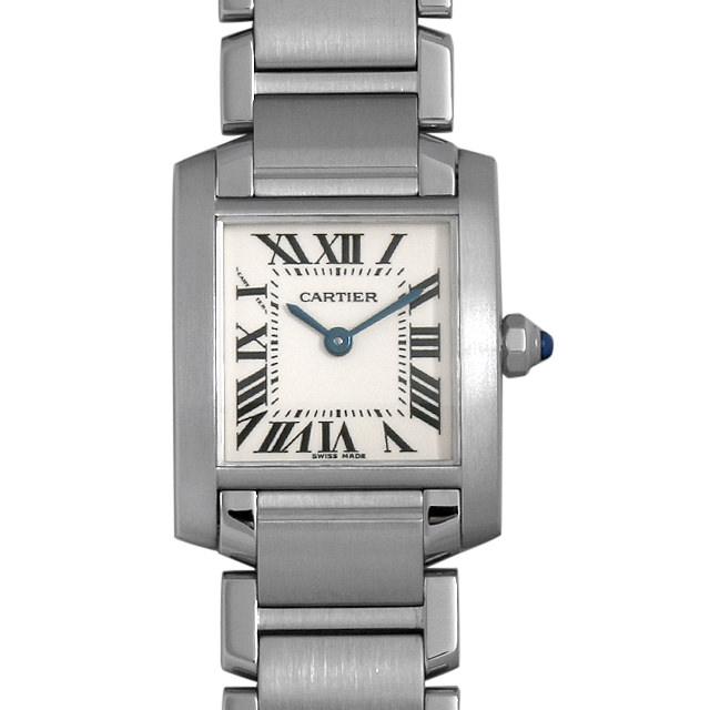 【48回払いまで無金利】カルティエ タンクフランセーズ SM W51008Q3 レディース(006XCAAU0198)【中古】【腕時計】【送料無料】