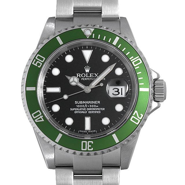 ロレックス サブマリーナ デイト 16610LV ライムベゼル D番 メンズ(006XROAU1040)【中古】【腕時計】【送料無料】