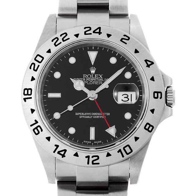 【48回払いまで無金利】ロレックス エクスプローラーII 16570 ブラック D番 メンズ(006XROAU1042)【中古】【腕時計】【送料無料】