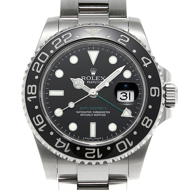 SALE 【48回払いまで無金利】ロレックス GMTマスターII 116710LN M番 メンズ(006XROAU1059)【中古】【腕時計】【送料無料】