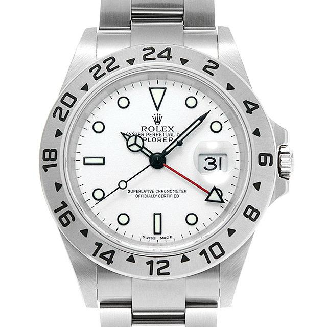 【48回払いまで無金利】ロレックス エクスプローラーII 16570 ホワイト F番 メンズ(006XROAU1064)【中古】【腕時計】【送料無料】
