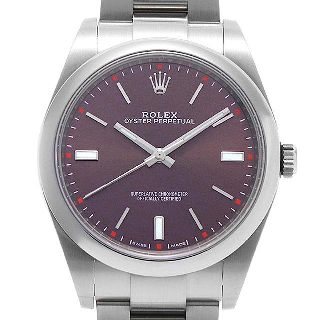 【48回払いまで無金利】ロレックス オイスターパーペチュアル39 114300 レッドグレープ メンズ(006XROAU1091)【中古】【腕時計】【送料無料】