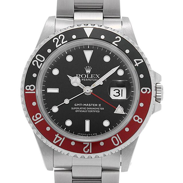 ロレックス GMTマスターII 赤黒ベゼル 16710 X番 メンズ(007UROAU0557)【中古】【腕時計】【送料無料】